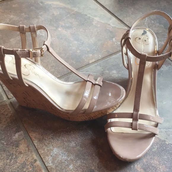Jessica Simpson Shoes - Jessica Simpson • Nude wedges • size 7 • EUC •